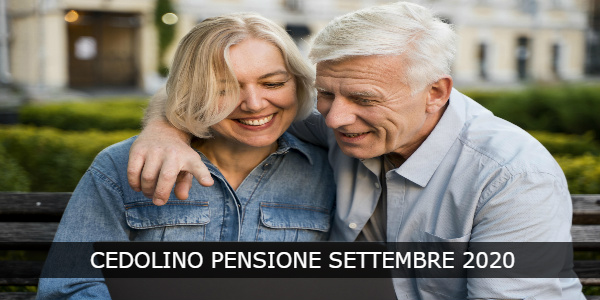 cedolino pensione settembre 2020