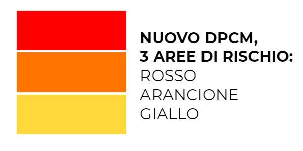 Nuovo DPCM: testo, coprifuoco e zona rossa, arancione e gialla