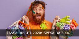 Tassa rifiuti 2020: spesa da 300 euro a famiglia