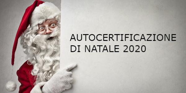 autocertificazione natale 2020
